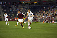 July 24th, 2012:  Swansea City AFC midfielder Ben Davies (33) moves the ball closer to the goal as Colorado Rapids host Swansea City AFC for a international friendly soccer match in Denver, CO.  The Rapids would go on to win 2-1.