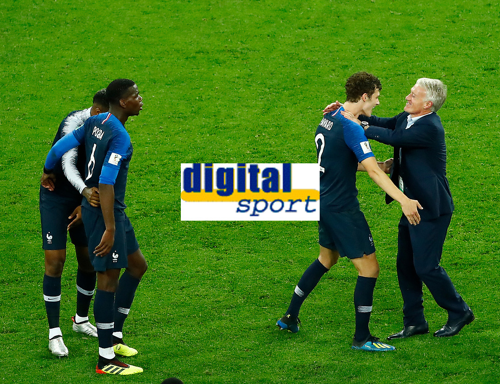 Benjamin Pavard (France) celebrates with Didier Deschamps (France)<br /> Saint Petersburg 10-07-2018 Football FIFA World Cup Russia  2018 Semifinal <br /> France - Belgium / Francia - Belgio <br /> Foto Matteo Ciambelli/Insidefoto