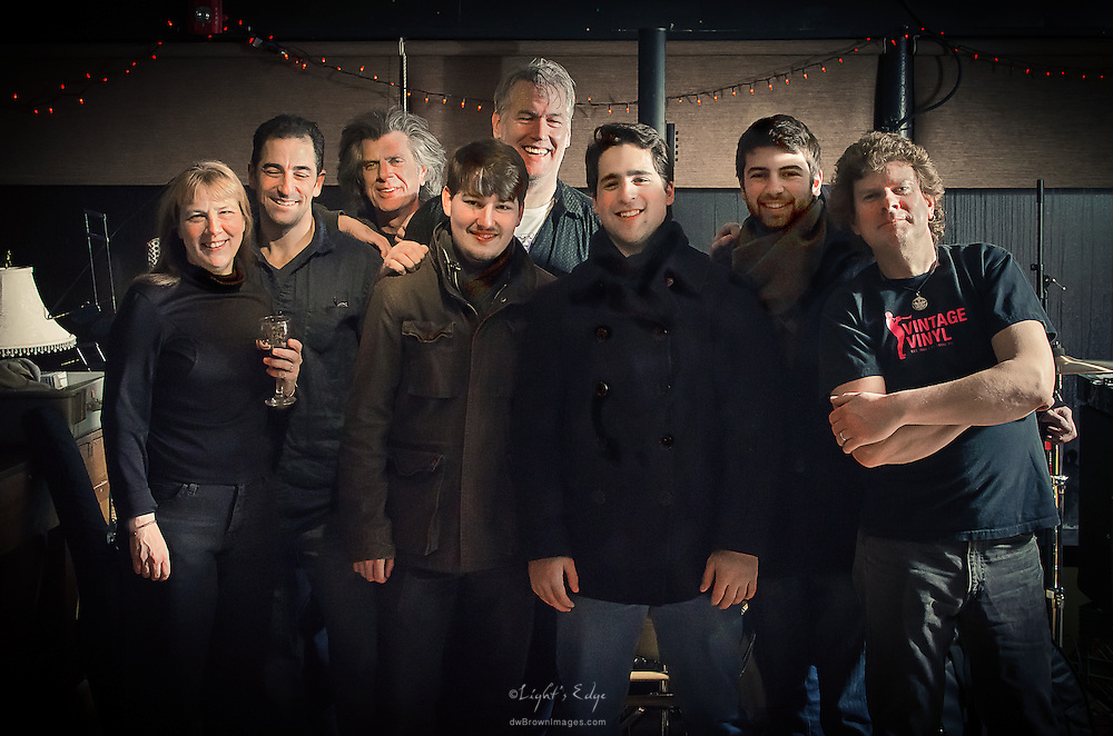 Group photo of Scott McClatchy and the band after their performance at The Bus Stop Music Cafe in Pitman, NJ.