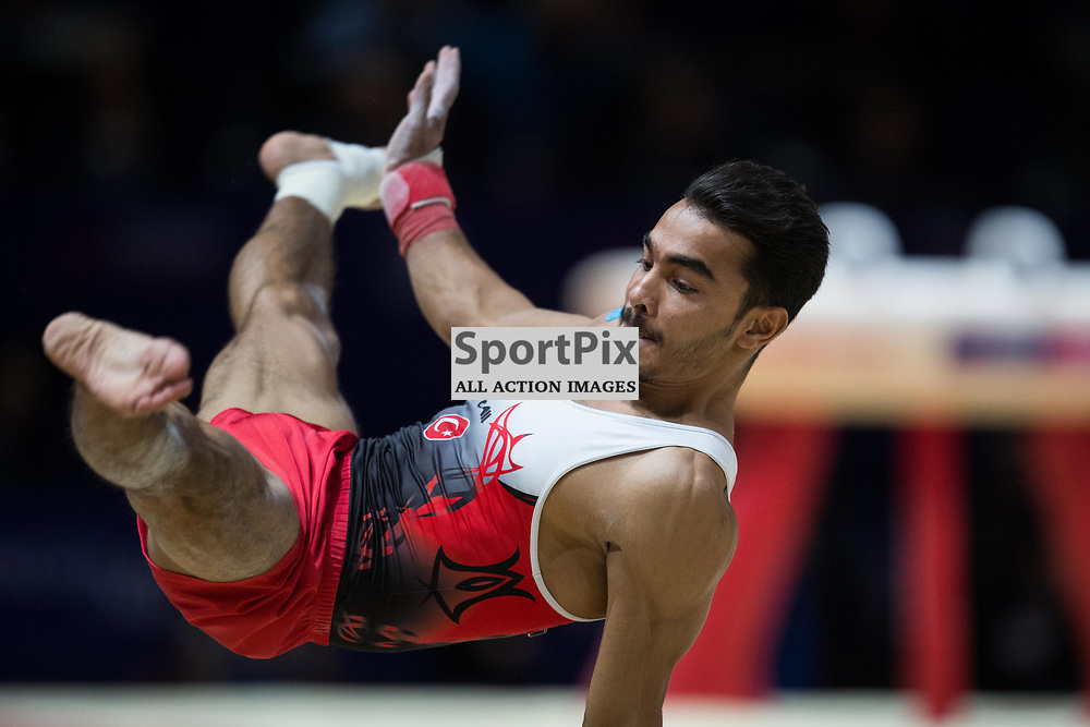 Ferhat Arican of Turkey competes in the Gymnastics Team Men Qualification - 2018 European Championships Glasgow, 9 August 2018. (c) Adam Oliver | sportPix.org.uk