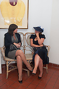 MIRANDA DAVID; FIONA YOUNG, Ladies Day, Glorious Goodwood. Goodwood. August 2, 2012