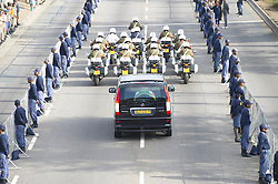 Dec. 12, 2013 - Pretoria, Gauteng, South Africa - A Guard of Honour as people in Pretoria line the streets as Nelson Mandela's body was driven through the city to lie in state at the Union Buildings, the South African seat of government. Mr Mandela's body is being transported there at 07:00 local time on three successive mornings, before public viewings each day. On Saturday, the former president's body will be flown to the Eastern Cape. He will be laid to rest in Qunu, where he grew up, on Sunday.(Credit Image: © Roger Sedres/ZUMA Wire/ZUMAPRESS.com)
