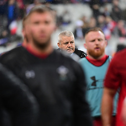 Wales head coach Warren Gatland during the NatWest Six Nations match between France and Wales on February 1, 2019 in Paris, France. (Photo by Dave Winter/Icon Sport)