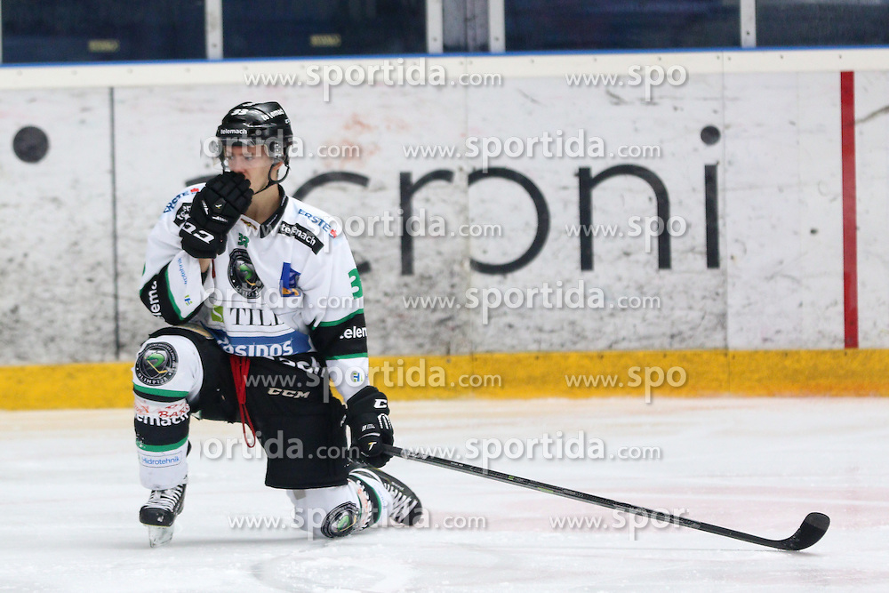Jure Sotlar of Olimpija during ice hockey match between HDD SIJ Acroni Jesenice and HDD Telemach Olimpija, on August 29 in Dvorana Podmezaklja, Jesenice, Slovenia. Photo by Matic Klansek Velej / Sportida