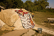 Sweat Lodge, Little Bighorn River, Medicine Tail Coulee, site of Battle of the Little Bighorn, Montana