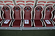 The team benches marked up for safe distances during the Serie A match at Stadio Grande Torino, Turin. Picture date: 20th June 2020. Picture credit should read: Jonathan Moscrop/Sportimage