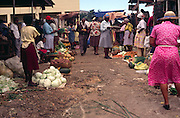 People at a rural food market, Jamaica