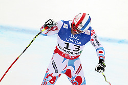 AUT, FIS Weltmeisterschaften Ski Alpin, Schladming 2013.09.02.2013, Planai, Schladming, AUT, FIS Weltmeisterschaften Ski Alpin, Abfahrt, Herren, im Bild David Poisson (FRA), 3. Platz // David Poisson of France, 3rd place, reacts after his run of mens Downhill during FIS Ski World Championships 2013 at the Planai Course, Schladming, Austria on 2013/02/09. EXPA Pictures © 2013, PhotoCredit: EXPA/ Martin Huber