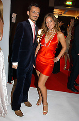 MATTHEW WILLIAMSON and JADE JAGGER at the Moet & Chandon Fashion Tribute 2005 to Matthew Williamson, held at Old Billingsgate, City of London on 16th February 2005.<br />