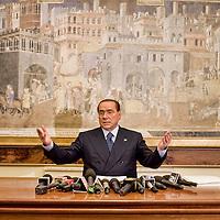 Conferenza stampa Silvio Berlusconi