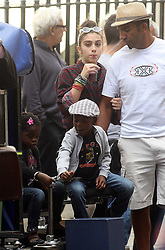 ©London News Pictures. 15/01/2011 .Picture Credit Should read Neil Hall/London News Pictures.Madonna directs her new period film W.E. starring Abbie Cornish about the abdication of King Edward in London on 08/08/2010 Pictured are her children Lourdes, David and Mercy who visited the set