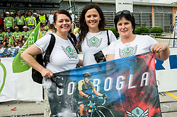 Lora Klinc, girlfriend of Primoz Roglic of Team Lotto NL Jumbo with her (L) and his (R) mothers during 5th Time Trial Stage of 25th Tour de Slovenie 2018 cycling race between Trebnje and Novo mesto (25,5 km), on June 17, 2018 in  Slovenia. Photo by Vid Ponikvar / Sportida