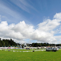 Blair Castle Horse Trials 2012 Photo Essay at Blair Castle, Blair Atholl, Perthshire. The main arena with Blair Castle in the background.  Picture Christian Cooksey.