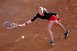 May 18, 2018 - Rome, Rome, Italy - 18th May 2018, Foro Italico, Rome, Italy; Italian Open Tennis; Anett Kontaveit (EST) in action during her quarter-final lost 6-1, 6-1 against Caroline Wozniacki (DEN). Credit: Giampiero Sposito/Pacific Press  (Credit Image: © Giampiero Sposito/Pacific Press via ZUMA Wire)