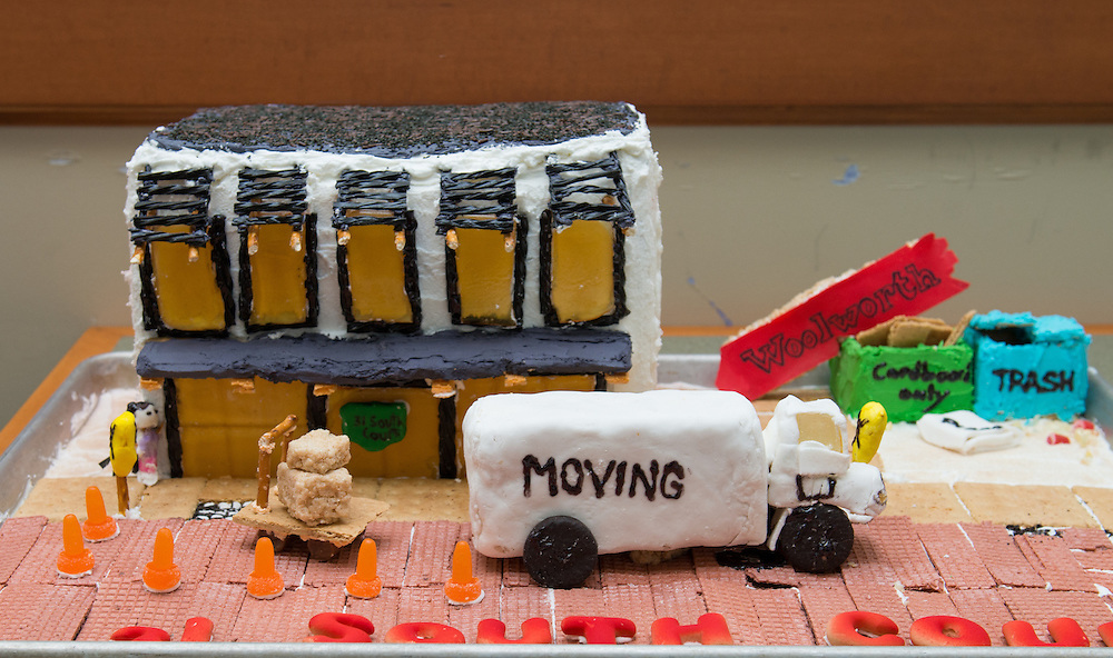Entries for this year's gingerbread house decorating competiiton.