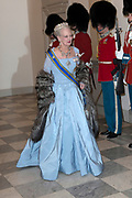 Staatsbezoek Denemarken - Dag 1. Staatsbanket in Paleis Christiansborg<br /> <br /> State visit Denmark - Day 1. State Banquet in Christiansborg Palace<br /> <br /> Op de foto / On the photo:  Koningin Margrethe / Queen  Margrethe