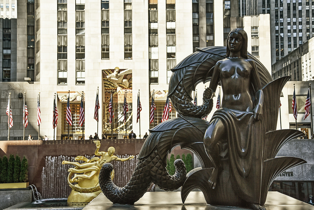 Mermaid Statue at The Rockefeller Centre
