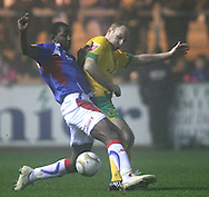 Carlisle - Saturday November 28th, 2008: Vincent Pericard of Carlisle United and Gary Doherty of Norwich City during the FA Cup second round match at Brunton Park, Carlisle. (Pic by Andrew Stunell/Focus Images).