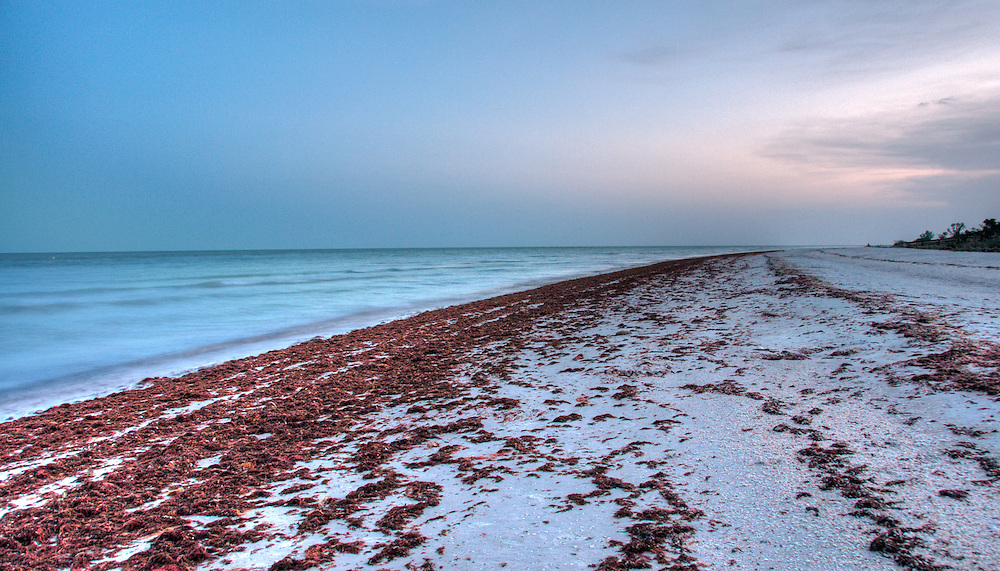 View of Beah at Dusk in Sanibel Island.