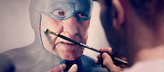"""The Life and Times of an Ageing Superhero Captured in Oil Paintings<br /> <br /> In his ongoing series of photorealistic oil paintings called the Ageing Superhero, Swedish artist Andreas Englund takes us into the candidly humorous life of an anonymous superhero who has probably seen better days. Though he still puts up a tough fight, the wear and tear of battling crime has taken its toll on this elderly action figure.<br /> In a kind of tender comic on a huge canvas, Englund describes the hero who is slowly but surely spending his remaining years with human traits as a link between the artist himself and the viewer. It was extremely important to Englund to portray the aging process with an intensified presence. If you want to accord credibility to a character, the character himself needs to face up reality and the aging process. He has to acknowledge to himself that he cannot live up to expectations and that the """"perfect life"""" is nothing more than wishfulness. Englund's artworks are focused on the maturing process. Even in the old age it is still possible to achieve something valuable although someone's drive and vigour won't bluster out explosively. Nevertheless everybody in his advanced age deserves to be recognised and respected for what he has achieved in life.<br /> ©Andreas Englund/Exclusivepix Media"""