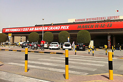 © under license to London News Pictures. 22/02/2011. The Bahrain International Airport is still adverising the cancelled Grand Prix. Photo credit should read Michael Graae/London News Pictures