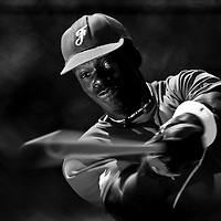 Clyde Fondop (France) takes batting practice during a 12 days training camp in Cuba, accross the country.