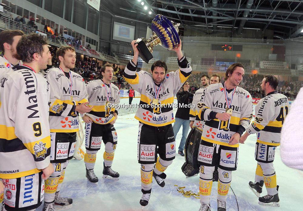 Victoire Rouen   - 25.01.2015 - Rouen / Amiens - Finale Coupe de France 2015 de Hockey sur glace<br />Photo : Xavier Laine / Icon Sport *** Local Caption ***