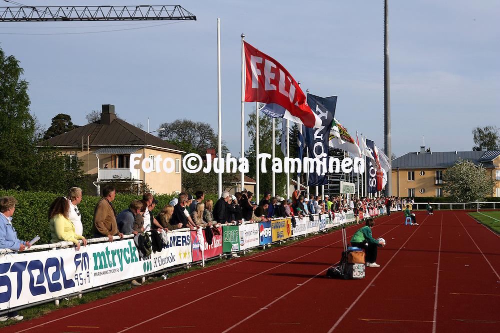 """27.05.2007, Wikl?f Holding Arena, Mariehamn, Finland..Veikkausliiga 2007 - Finnish League 2007.IFK Mariehamn - FC Inter Turku.""""Aurinkokatsomo"""".©Juha Tamminen.....ARK:k"""