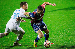 Marko Vesovic of HNK Rijeka vs Hysen Memolla of HNK Hajduk during football match between HNK Rijeka and HNK Hajduk Split in Round #15 of 1st HNL League 2016/17, on November 5, 2016 in Rujevica stadium, Rijeka, Croatia. Photo by Vid Ponikvar / Sportida