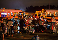 Vidor, Texas, August 31, 2017- evacuations continue in Vidor, Texas as water continued to rise, despite Hurricane Harvey's rain stopping. People from Vidor Texas and the vicinitny near by load on to school busses that will take them to a shelter in Lake Charles Louisiana. The water in Vidor continued to rise for days after the rains from Harvey stopped as rivers continued to crest.