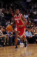 Jan. 6 2010; Phoenix, AZ, USA;  Houston Rockets guard Aaron Brooks (0) makes his way down the court  against the Phoenix Suns at the US Airways Center. Phoenix Suns defeated the Houston Rockets 118-110. Mandatory Credit: Jennifer Stewart-US PRESSWIRE