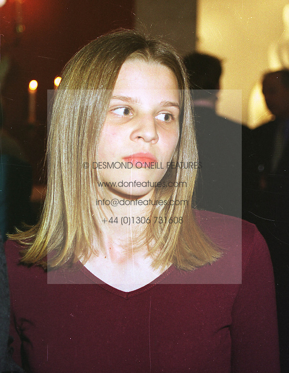 MISS ELIZA FERGUSON half sister of Sarah, Duchess of York, at a fashion show in London on 12th April 1999.MPY 70