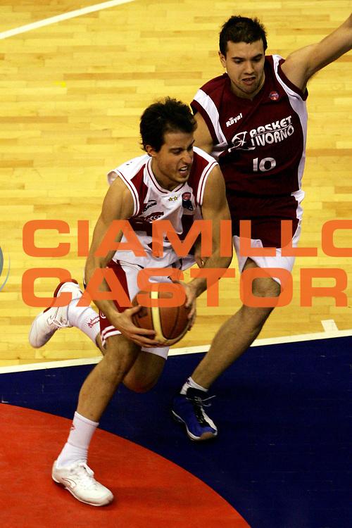 DESCRIZIONE : Milano Lega A1 2005-06 Armani Jeans Olimpia Milano Basket Livorno<br /> GIOCATORE : Bulleri<br /> SQUADRA : Armani Jeans Olimpia Milano<br /> EVENTO : Campionato Lega A1 2005-2006<br /> GARA : Armani Jeans Olimpia Milano Basket Livorno<br /> DATA : 18/12/2005<br /> CATEGORIA : Penetrazione<br /> SPORT : Pallacanestro<br /> AUTORE : Agenzia Ciamillo-Castoria/L.Lussoso