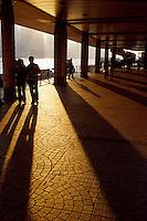 Shadows and sihouettes on the Promenade in Kowloon, Hong Kong, China.