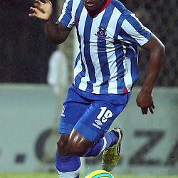 PIETERMARITZBURG, SOUTH AFRICA - MARCH 19: Terrance Mandaza of Maritzburg Utd during the Absa Premiership match between Maritzburg United and Bloemfontein Celtic at Harry Gwala Stadium on March 19, 2014 in Pietermaritzburg, South Africa. (Photo by Steve Haag/Gallo Images)