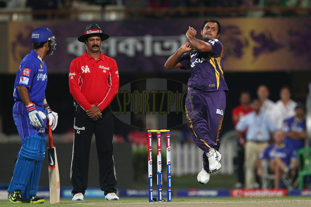 Sumit Narwal during match 47 of the Pepsi Indian Premier League between The Kolkata Knight Riders and the Rajasthan Royals held at the Eden Gardens Stadium in Kolkata on the 3rd May 2013..Photo by Ron Gaunt-IPL-SPORTZPICS  ..Use of this image is subject to the terms and conditions as outlined by the BCCI. These terms can be found by following this link:..http://www.sportzpics.co.za/image/I0000SoRagM2cIEc