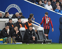 Football - 2019 / 2020 Premier League - Brighton & Hove Albion vs. AFC Bournemouth<br /> <br /> More injuries for Bournemouth : Jack Stacey leaves the field injured after they had already used their 3 substitutes , leaving his team with 10 men, at The Amex.<br /> <br /> COLORSPORT/ANDREW COWIE