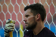 Ben Foster looks on during the England open training session at Arena da Amazonia, Manaus, Brazil. <br /> Picture by Andrew Tobin/Focus Images Ltd +44 7710 761829<br /> 13/06/2014