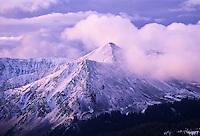 Dawn light & new snow in autumn on Jones Mountain, Gladstone Ridge; Collegiate Range, Cottonwood Pass, Colorado