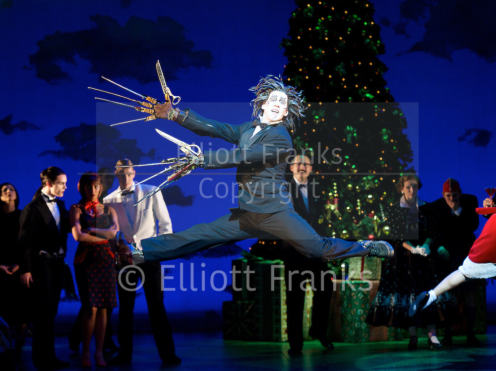 New Adventures, Martin McCallum &amp; Marc Platt present Matthew Bourne's <br /> Edward Scissorhands <br /> at Sadler's Wells, London, Great Britain <br /> press photocall <br /> 4th December 2014 <br /> <br /> <br /> Dominic North as Edward Scissorhands <br /> <br /> <br /> <br /> Photograph by Elliott Franks <br /> Image licensed to Elliott Franks Photography Services