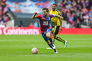 Crystal Palace's Yohan Cabaye on the ball during the The FA Cup match between Crystal Palace and Watford at Wembley Stadium, London, England on 24 April 2016. Photo by Shane Healey.