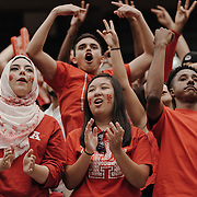 University of Houston fans cheer on their team from the sidelines.<br /> <br /> Todd Spoth for The New York Times.