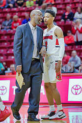 NORMAL, IL - November 03: Brian Reese and Zach Copeland during a college basketball game between the ISU Redbirds  and the Augustana Vikings on November 03 2018 at Redbird Arena in Normal, IL. (Photo by Alan Look)