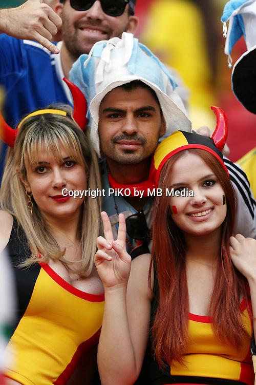 Fifa Soccer World Cup - Brazil 2014 - <br /> ARGENTINA (ARG) Vs. BELGIUM (BEL) - Quarter-finals - Estadio Nacional Brasilia -- Brazil (BRA) - 05 July 2014 <br /> Here Belgium fans.<br /> &copy; PikoPress