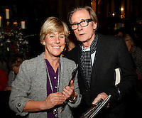 Bill Nighy and Lucy Morris, Nordoff Robbins Carol Service  2011 sponsored by Coutts. London..Wednesday, 14. Dec 2011