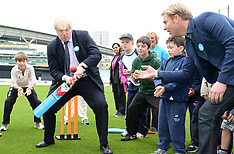 MAY 30 2013 Mayor Boris Johnson and Shane Warne