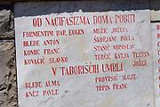 Italy, Collio. Monument for Nazi victims.