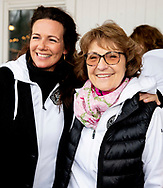 8-2-2019 AMSTERDAM - Princess Annette and Princess Margriet during the kick-off of the fifth edition of De Hollandse 100, an initiative of Lymph & Co. The goal of the Lymph & Co foundation is to fund fundamental research into the nature and treatment of lymphoma. ROBIN UTRECHT