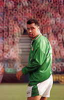 Irish International soccer player Paul McGrath playing at Landsdowne Road in Dublin in early 1990's Pic:Marc O'Sullivan