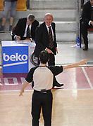 DESCRIZIONE : Roma Lega A 2014-15 <br /> Acea Virtus Roma - Acqua Vitasnella Cantu<br /> GIOCATORE : Luca Dalmonte<br /> CATEGORIA : coach delusione arbitro <br /> SQUADRA : Acea Virtus Roma<br /> EVENTO : Campionato Lega A 2014-2015 <br /> GARA : Acea Virtus Roma - Acqua Vitasnella Cantu<br /> DATA : 10/05/2015<br /> SPORT : Pallacanestro <br /> AUTORE : Agenzia Ciamillo-Castoria/N. Dalla Mura<br /> Galleria : Lega Basket A 2014-2015  <br /> Fotonotizia : Roma Lega A 2014-15 Acea Virtus Roma - Acqua Vitasnella Cantu
